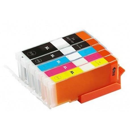 Sada 5ks Canon PGI-570 / CLI-571 XL (PGI-570Bk,CLI-571C,CLI-571M,CLI-571Y, CLI-571Bk)-kompatibilní inkoustové náplně (cartridge)