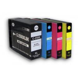 Sada 4ks Canon PGI-2500XL (9254B004,PGI-2500XL Bk, PGI-2500XL C,PGI-2500XL M, PGI-2500XL Y) kompat. inkoustové náplně pro Maxify