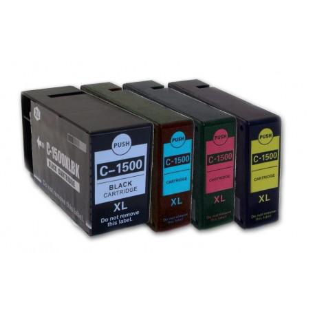 Sada 4ks Canon PGI-1500XL (9182B006,PGI-1500XL Bk, PGI-1500XL C,PGI-1500XL M, PGI-1500XL Y) kompat. inkoustové náplně pro Maxify