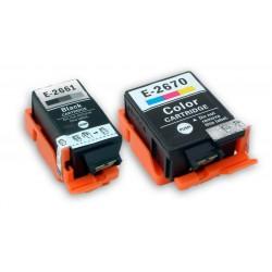 Sada Epson T2661 + T2670 (C13T26614010, C13T26704010) kompatibilní inkoustové náplně (cartridge) pro Epson WorkForce WF-100W