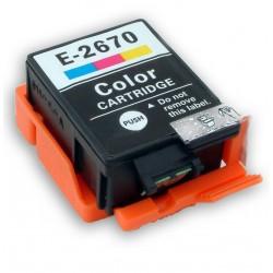 Cartridge Epson  T2670 (C13T26704010) barevná (colour) - kompatibilní inkoustová náplň pro Epson WorkForce WF-100W