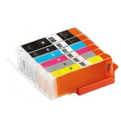 Sada 6ks Canon PGI-570 / CLI-571 XL (PGI-570Bk,CLI-571C,CLI-571M,CLI-571Y,CLI-571Bk) kompatibilní inkoustové náplně (cartridge)