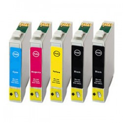 Sada 5ks Epson T1285 (2x T1281, T1282, T1283, T1284) Epson Stylus - kompatibilní inkoustové náplně (cartridge) - Epson