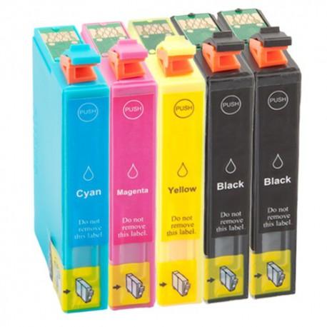 Sada 5ks Epson T1816 (2x T1811, T1812, T1813, T1814,T1815) Expression Home - komp. inkoustové náplně (cartridge) - XP-205,XP-305
