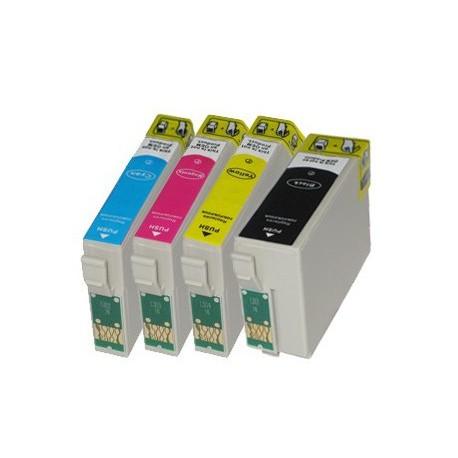 Sada 4ks Epson T1306 (T1301, T1302, T1303, T1304, T1305) Stylus - komp. inkoustové náplně (cartridge) - SX525, BX625, BX525