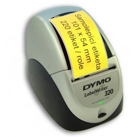 Etikety / Štítky Dymo Labelwriter 101x54mm žluté, 99014, S0722430 - přepravní, 220ks kompatibilní