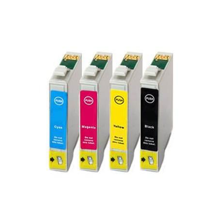 Sada 4ks Epson T1295 (T1291, T1292, T1293, T1294) Epson Stylus - kompatibilní inkoustové náplně (cartridge) - Epson