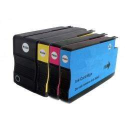 Sada 4ks HP 953XL (953 XL, 957XL)  s čipem HP Officejet Pro 7740, 8210, 8710, 8720 - kompatibilní inkoustové náplně-cartridge