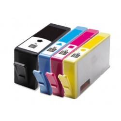 Sada 4ks HP 903XL (903 XL)  s čipem HP Officejet Pro 6950, 6960, 6970 - kompatibilní inkoustové náplně-cartridge