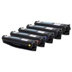 5x Toner HP CF410X, CF411X, CF412X, CF413X 410X pro Color LaserJet Pro MFP M452, M377, M477 - C/M/Y/2xK kompatibilní