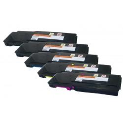 Sada 5x toner pro Xerox Phaser 6600, Workcentre 6605 (2x 106R02236, 106R02233, 106R02234, 106R02235) kompatibilní
