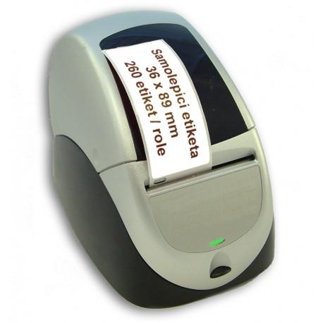 Etikety / Štítky Seiko SLP Label adresní 36x89mm , SLP-2RLE, 260ks - kompatibilní