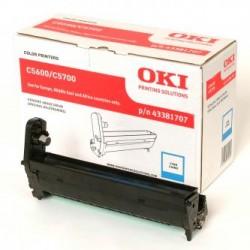 OKI originální optický válec 43381707, modrý (cyan), 20000str., OKI C5600, 5700