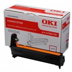 OKI originální optický válec 43381706, červený (magenta), 20000str., OKI C5600, 5700