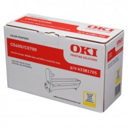 OKI originální optický válec 43381705, žlutý (yellow), 20000str., OKI C5600, 5700