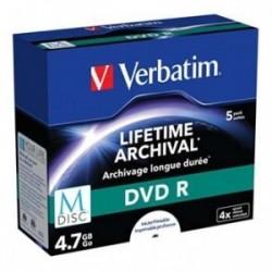 Verbatim M-Disc DVD R, 43821, 5-pack, 4x, jewel box, pro archivaci dat