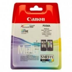 Canon originální ink PG-510 / CL-511, black/color, blistr, 220, 245str., 9ml, 2970B010, Canon MP240, 260, 270, 480
