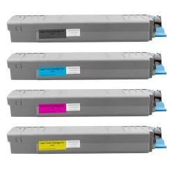 4x Toner Oki C810 44059108, 44059107, 44059106, 44059105  - C/M/Y/K kompatibilní - Oki C810DN, C810N, C830, C830DN, C830N