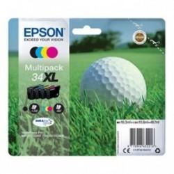 Epson originální ink T3476 (34XL, T3471, T3472, T3473, T3474),  C13T34764010, T347640, CMYK, 48.7ml, Epson WF-3720DWF, 3725DWF