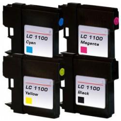 Sada 4ks Brother LC1100 / LC-980 XL - DCP-145, 165, MFC-250, 490 - kompatibilní inkoustové náplně (cartridge)