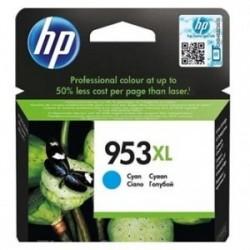 Inkoustová cartridge HP 953XL (F6U16AE) originální, modrá (cyan), 1600str., HP OfficeJet Pro 8218, 8710, 8720, 8730, 8740