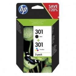 HP originální ink N9J72AE, black/color, 190/165str., HP 301, HP Deskjet 1510, 3055A, Officejet 2622