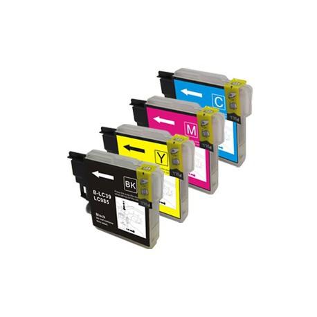Sada 4ks Brother LC985 XL - DCP-J125, J315, J515, MFC-J220, J265, J415 - kompatibilní inkoustové náplně (cartridge)