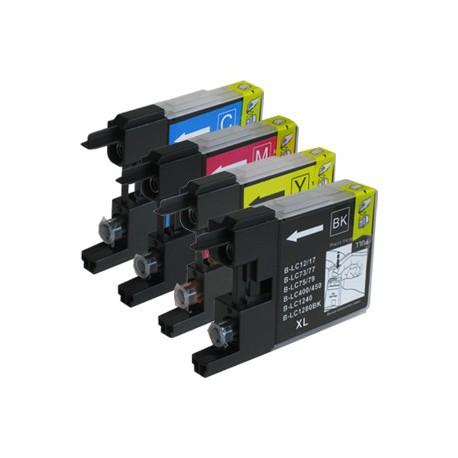 Sada 4ks Brother LC1240 XL - DCP-J525, J725, J925, MFC-J430, J6510, J825 - kompatibilní inkoustové náplně (cartridge)