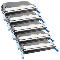 5x Toner HP Q6460A, Q6461A, Q6462A, Q6463A (Q6460, Q6462, 644A) - Color LaserJet 4730, 4730 MFP, CM-4730 - C/M/Y/2xK komp.