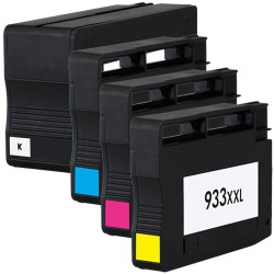 Sada 4ks HP 932XL / 933XL (932 XL, 933 XL, C2P42A)  s čipem HP Officejet 6100,6600,6700-kompatibilní inkoustové náplně-cartridge