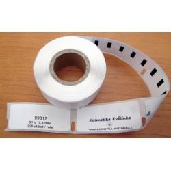Etikety / Štítky Dymo Labelwriter 50x12mm, 99017, S0722460, 220ks kompatibilní