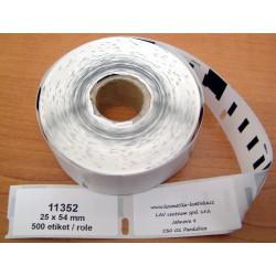 Etikety / Štítky Dymo Label Writer 54x25mm, 11352, S0722520, 500ks kompatibilní