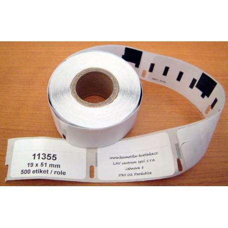 Etikety / Štítky Dymo Labelwriter 51x19mm, 11355, S0722550,  500ks kompatibilní