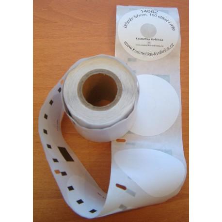 Etikety / Štítky Dymo Labelwriter na CD a DVD (průměr 57mm), 14681, S0719250, 160ks kompatibilní