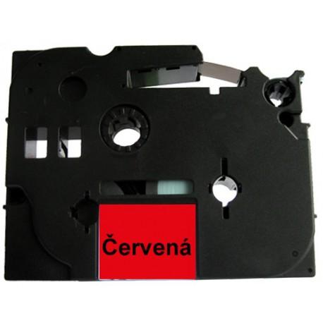 Páska (štítky) Brother TZ-431 (TZE-431, PT,  P-touch), 12mm, délka 8m, černá / červená, laminovaná - kompatibilní