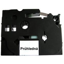Páska (štítky) Brother TZ-131 (TZE-131, TZ131, TZE131, PT, P-touch),12mm,délka 8m,černá/transparentní, laminovaná - kompatibilní