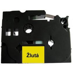 Páska (štítky) Brother TZ-621 (TZE-621, PT,  P-touch), 9mm, délka 8m, černá / žlutá, laminovaná - kompatibilní