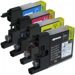 Sada 4ks Brother LC-1280 XL (LC-1280Bk, LC-1280C, LC-1280M, LC-1280Y) - kompatibilní inkoustové náplně (cartridge)