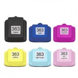 Sada 6ks HP 363XL s čipem HP Photosmart 3100, 3110, 8250, 7100, 6250 - kompatibilní inkoustové náplně (cartridge)