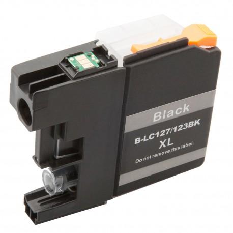 Cartridge Brother LC-123Bk (LC-123) černá (black)) - J470DW, J132W, J152W, J552 - kompatibilní inkoustová náplň
