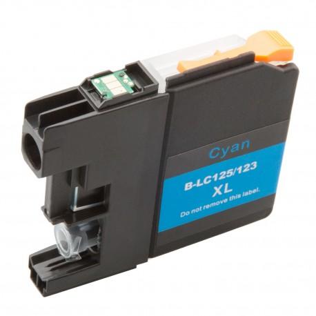 Cartridge Brother LC-123C (LC-123) modrá (cyan) - J470DW, J132W, J152W, J552 - kompatibilní inkoustová náplň
