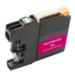 Cartridge Brother LC-123M (LC-123) červená (magenta) - J470DW, J132W, J152W, J552 - kompatibilní inkoustová náplň