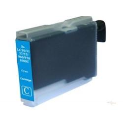 Cartridge Brother LC-1000C / LC-970C modrá (cyan) - DCP-130,DCP-135,DCP-770,MFC-235,MFC-360 - kompatibilní inkoustová náplň