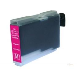 Cartridge Brother LC-1000M / LC-970M červená (magenta) - DCP-130,DCP-135,DCP-770,MFC-235,MFC-360 - kompatibilní inkoustová náplň