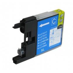 Cartridge Brother LC-1240C / LC-1220C / LC-1280C modrá (cyan) - DCP-J525,DCP-J725,MFC-J430 - kompatibilní inkoustová náplň