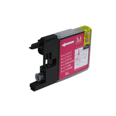Cartridge LC-1240M / LC-1220M / LC-1280M červená (magenta) - DCP-J525,DCP-J725,MFC-J430,MFC-J6510-kompatibilní inkoustová náplň
