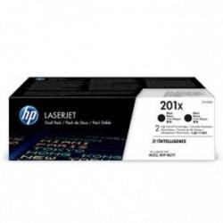 Toner HP CF400XD (CF400X, 201X) originální, černý (black), dvojbalení 2*2800str., HP Color LaserJet MFP M277, Pro M252, M274, Du