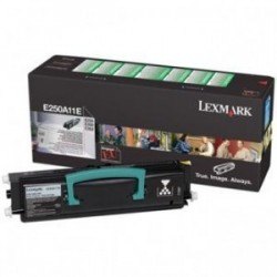 Toner Lexmark E250A11E originální, černý (black), 3500 stran, pro E250, E350, E352, E250dn, E250d, E350dn, E352dn, Optra